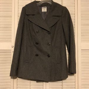 Old Navy gray pea coat